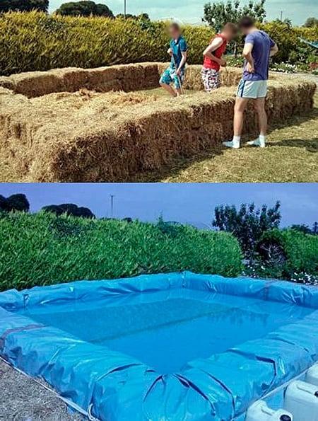 piscina de paja para perros