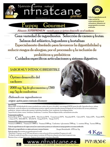 Saco de NFNatcane puppy gourmet