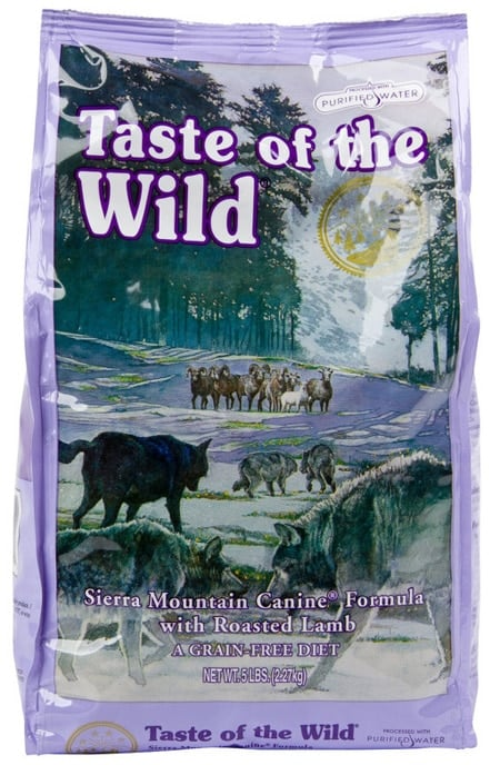 Saco de taste of the wild sierra mountain